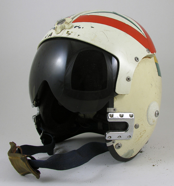 US Navy APH-6 Flight Helmet with Reflective Tape and Helmet Bag