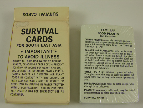 Survival Playing Cards for South East Asia