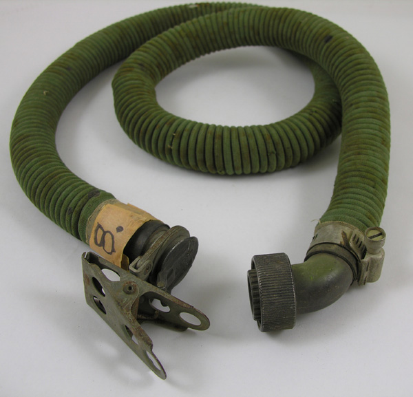 Oxygen Mask Extension Hose with Flip Cap and Alligator Clip and fitting for regulator