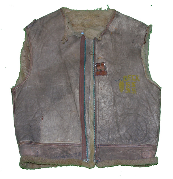 USAAF White Leather Painted B-3 Flight Jacket Vest