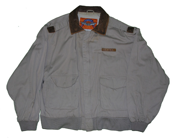 Reproduction Cloth A-2 Flight Jacket with Leather Collar
