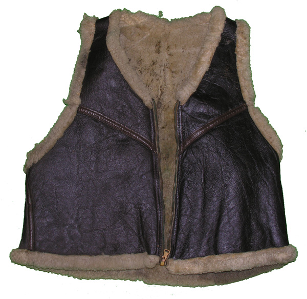 USAAF Leather Shearling C-3 Flying Vest