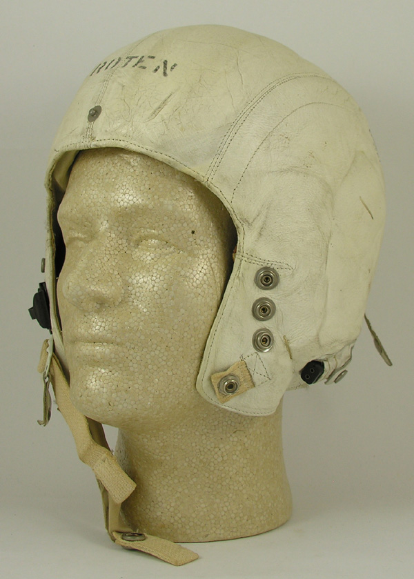 USAF MB-3 White Leather Flight Helmet