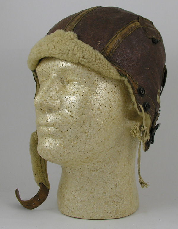 US Army Air Force B-5 Shearling Leather Flight Helmet