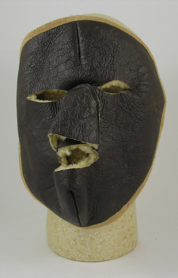 Leather Shearling Face Mask