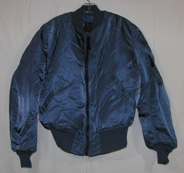 Reproduction USAF MA-1 Blue Cloth Flight Jacket