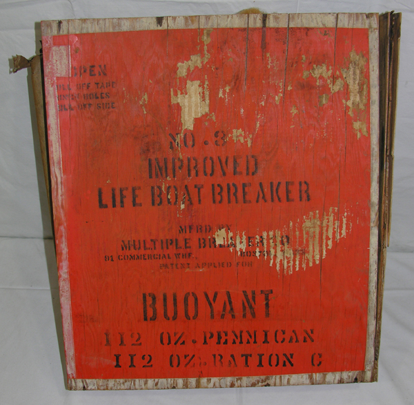 Wooden Ration Box from Life Boat