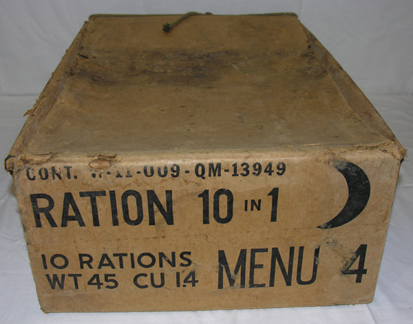 Cardboard box for Rations