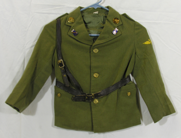 USAAF Child's Enlisted Dress Tunic with belt and insignia
