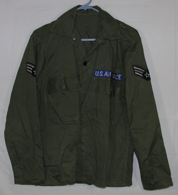USAF Green Shirt with insignia