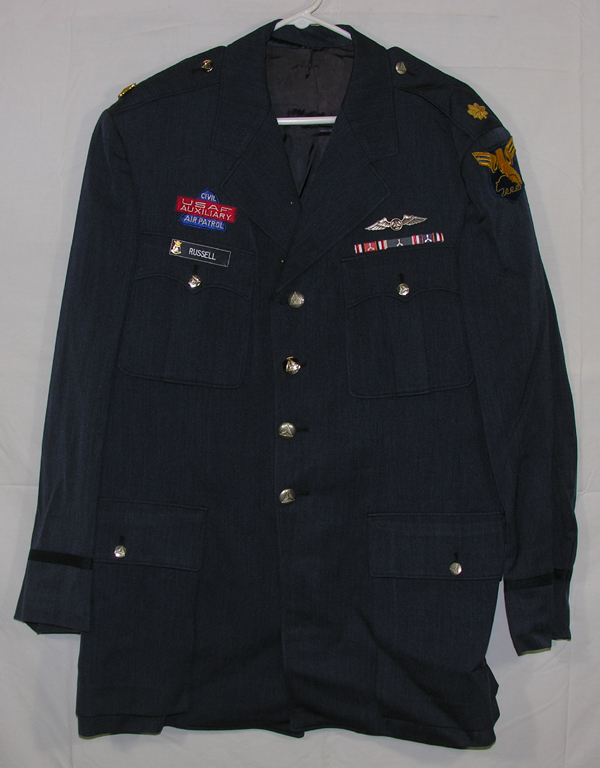 USAF Auxiliary Civil Air Patrol Blue Dress Tunic w/ insignia