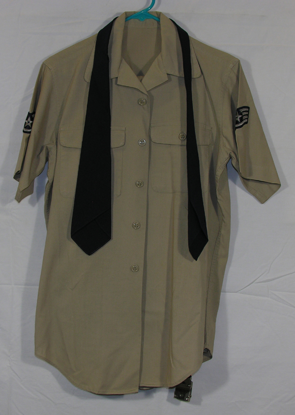 USAF Khaki Shirt Pants Belt Tie