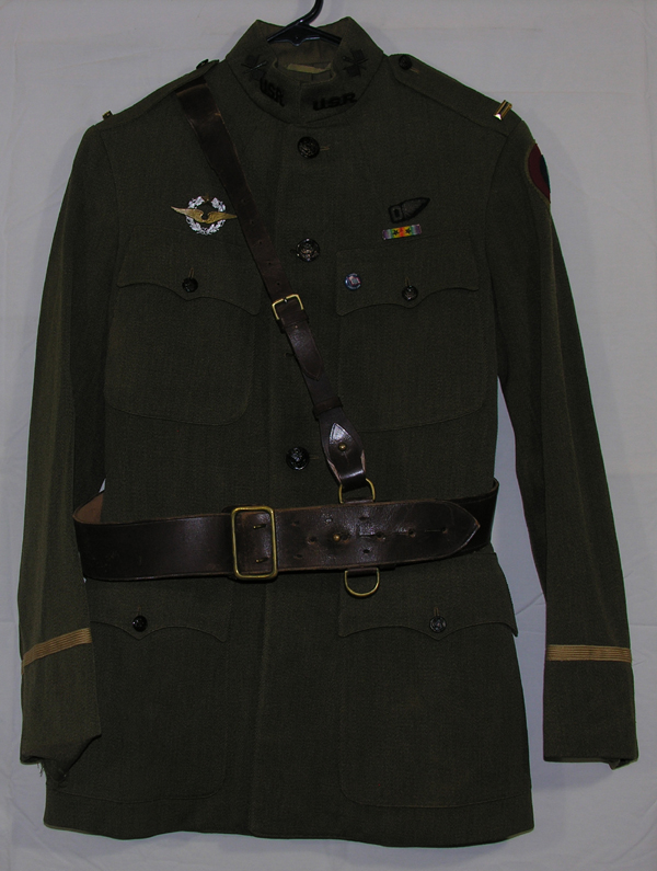 WWI Airship Pilot Dress Tunic with insignia and belt