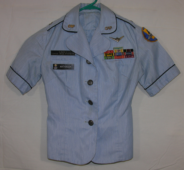 USAF Auxiliary Civil Air Patrol Blue Shirt and Skirt with insignia