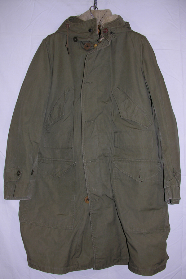 US Army Parka Overcoat with Pile Liner