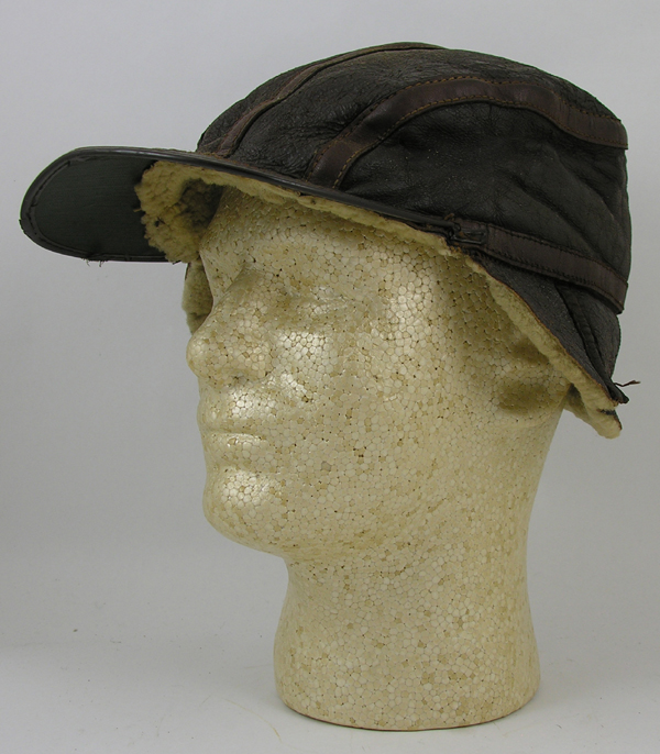 USAAF B-2 Style Leather Flight Cap