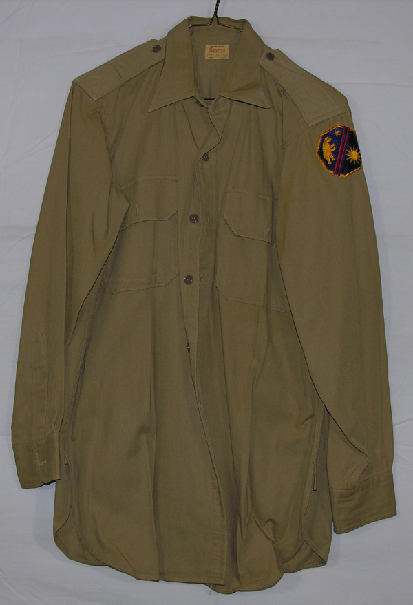 US Army Khaki Shirt with patch