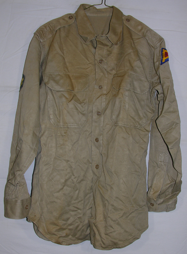US Army Enlisted Khaki Shirt with patch