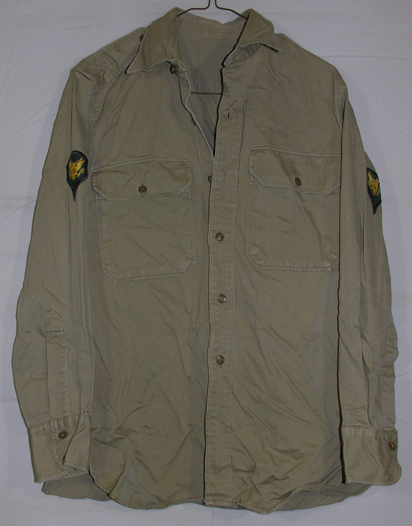 US Army Enlisted Khaki Shirt