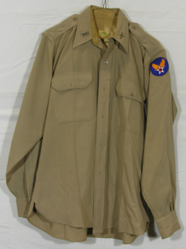 USAAF Officers Khaki Shirt with patch and insignia