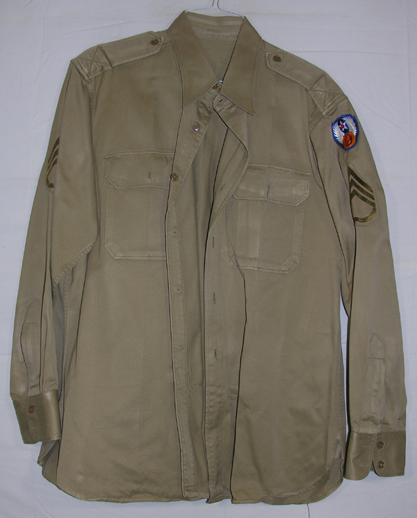 USAAF Enlisted Khaki Shirt with patch