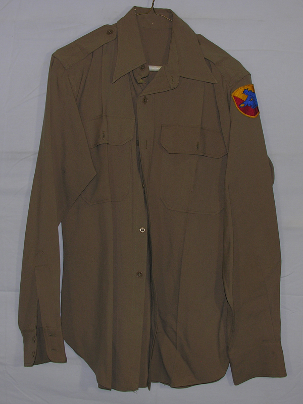 US Army Officers Khaki Shirt with patch