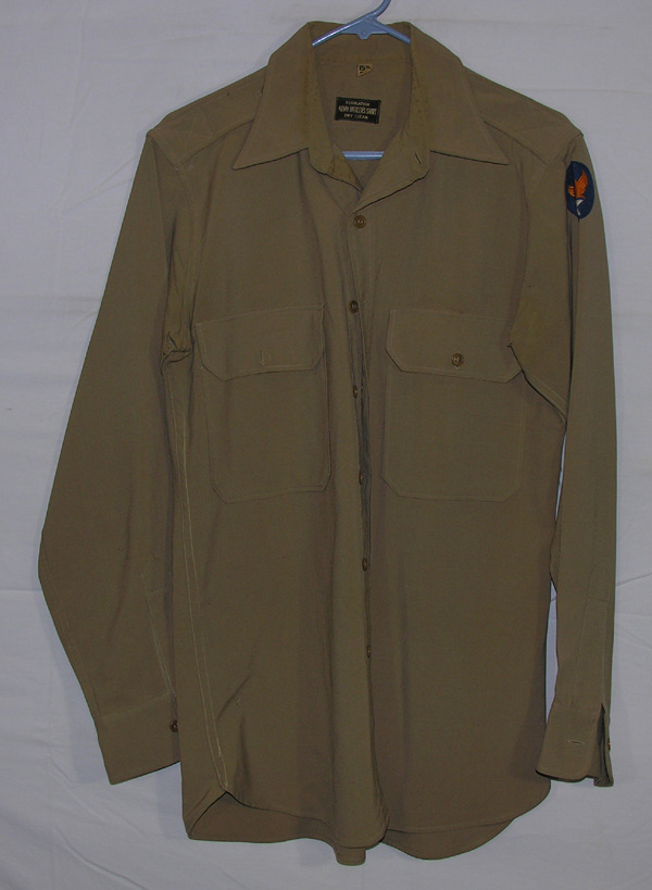 USAAF Officers Khaki Shirt with patch