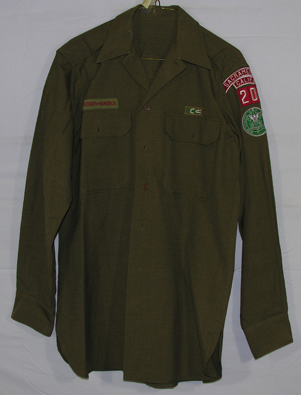 US Army Enlisted Shirt with Boy Scouts Patches