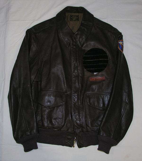 USAAF Reproduction Leather A-2 Jacket with patch