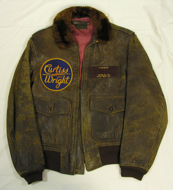 USAAF AN-J-3a Leather Flight Jacket from Curtiss Wright