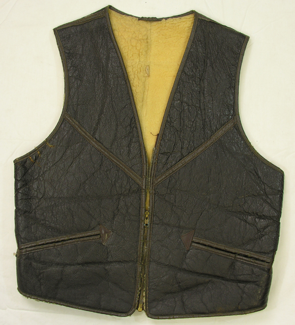 USAAF Style Shearling Leather Flight Vest