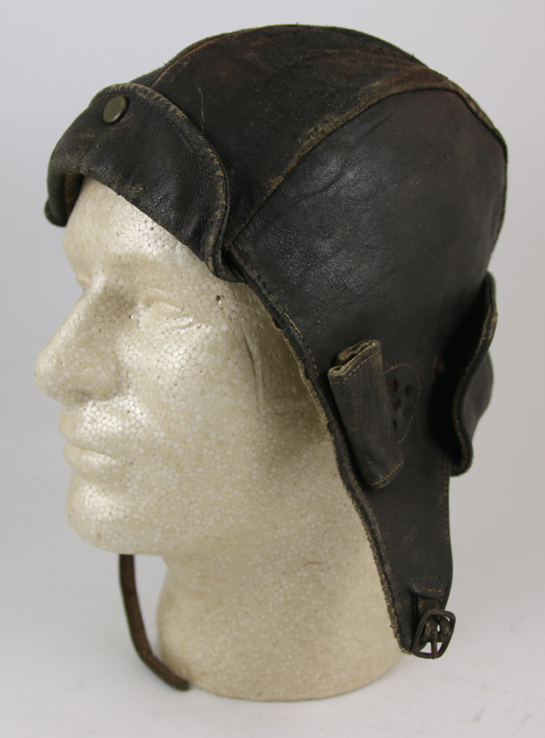 Early Leather Flying Helmet