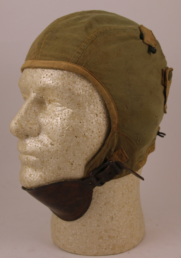 US Army Air Force A-8 Cloth Flight Helmet w/ hooks for A-9 Oxygen Mask
