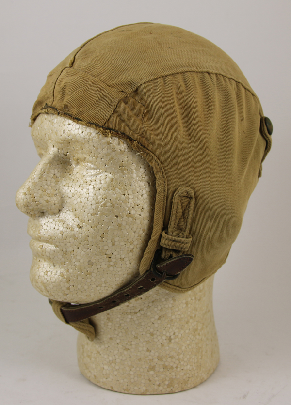 RARE US Army Air Force A-6 Cloth Flight Helmet