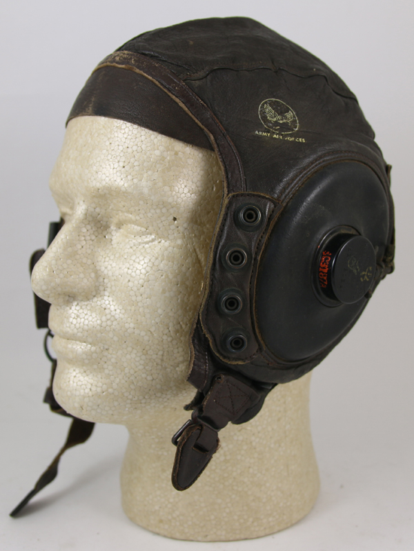 US Army Air Force A-11 Leather Flight Helmet with earphones