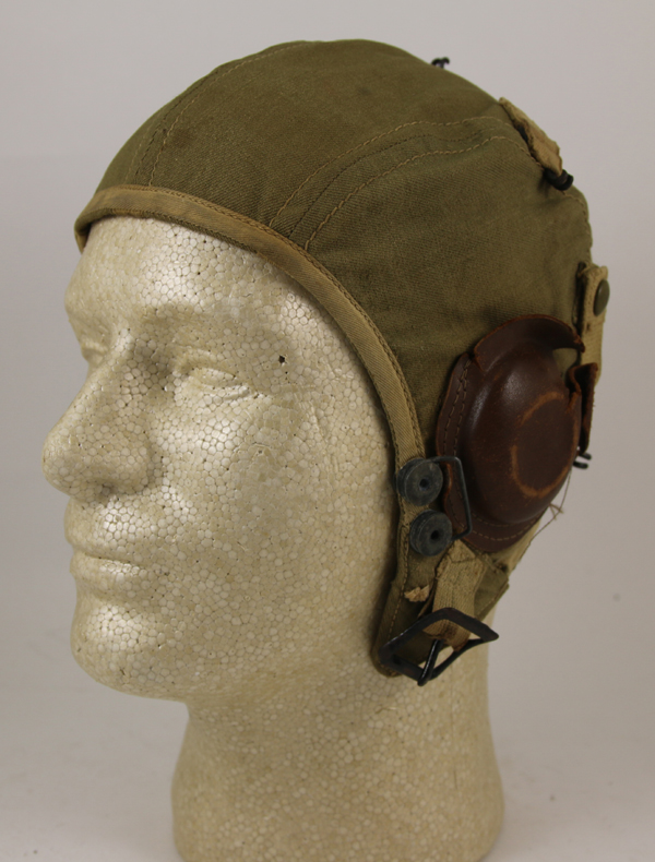 US Army Air Force A-9 Cloth Flight Helmet with earcups