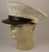 US Military Police White Visor Cap