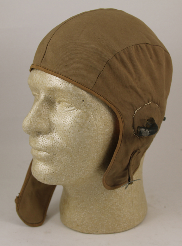 Early Cloth Flight Helmet with gosports