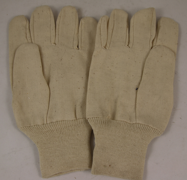 White Cloth Work Gloves for survival kits