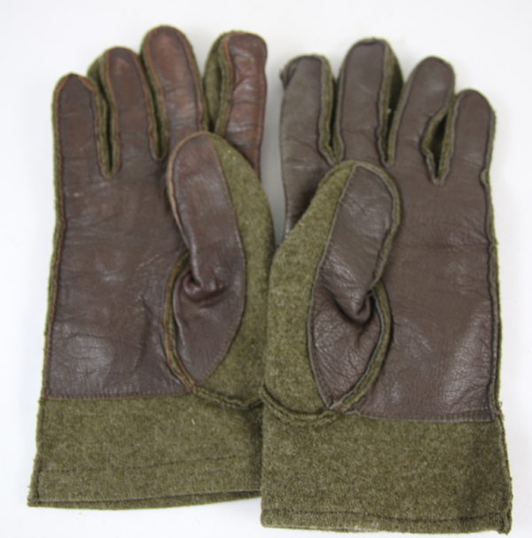 Wool Winter Gloves with leather palms