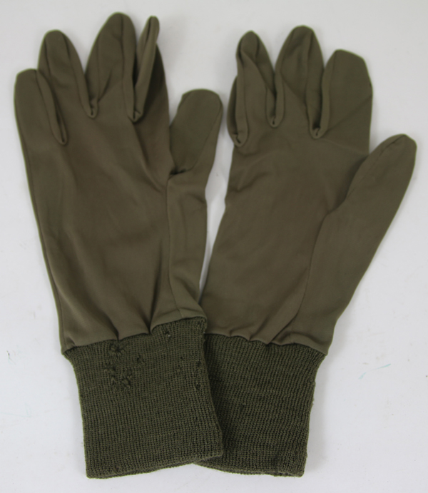 US Army Air Force Green Rayon Glove Inserts