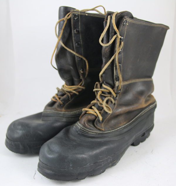 US Army Rubber Sole Leather Top Boots