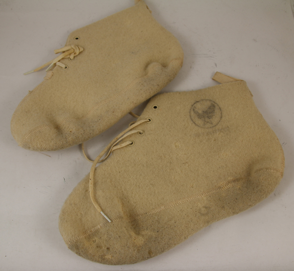 US Army Air Force White Wool Boot Inserts