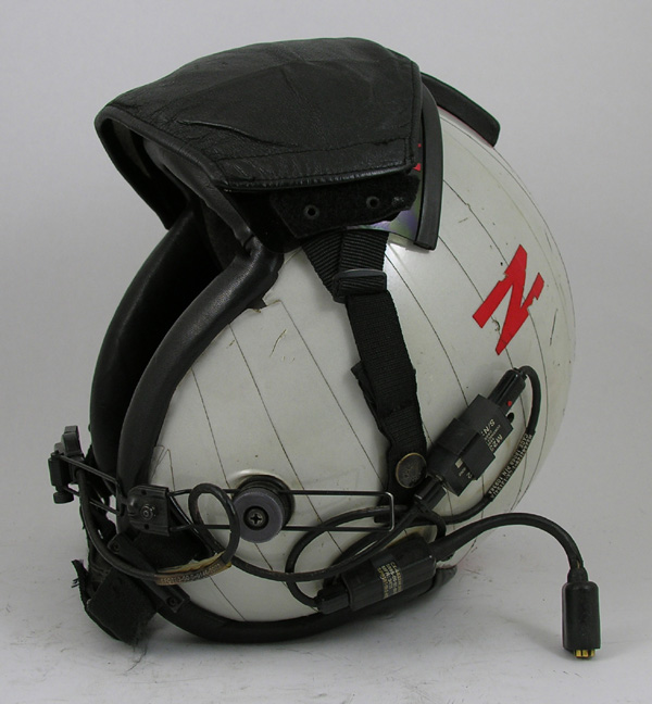 US Navy HGU-84/P Flight Helmet with Reflective Tape