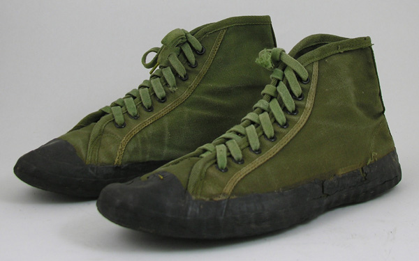 RARE US Cloth Web Jungle Shoes with Rubber Soles