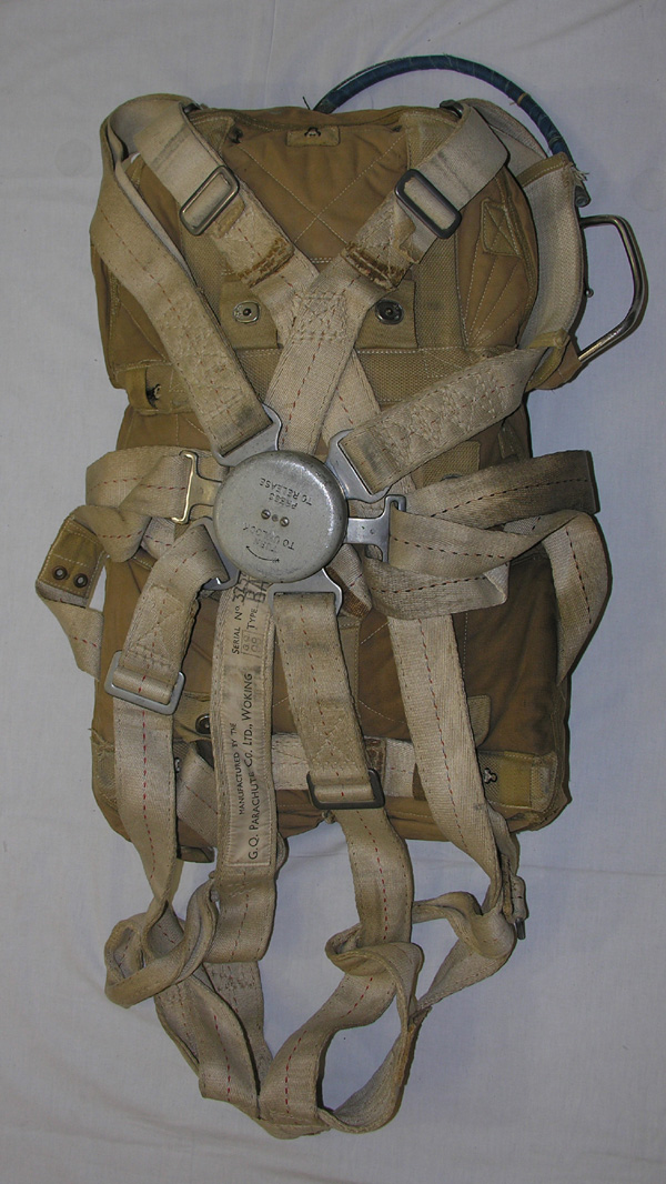 British Back Parachute