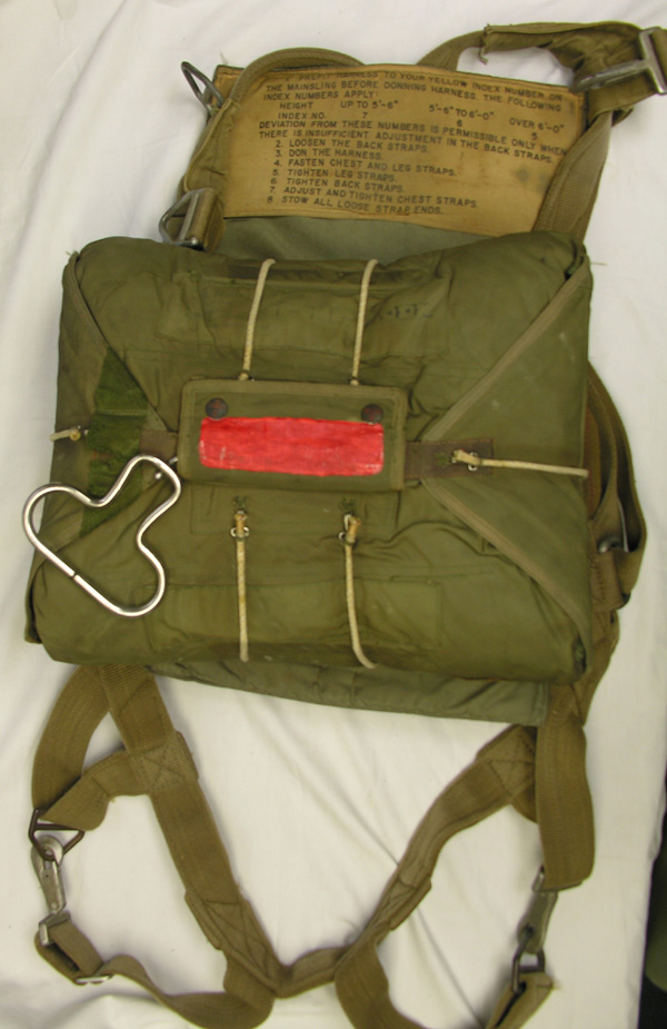 US Navy 1950s Chest Parachute Harness and Pack