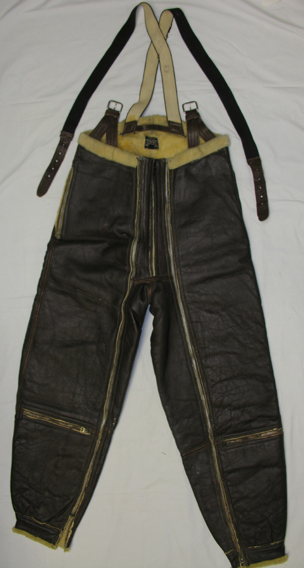 RARE USAAF A-5 Leather Shearling Flight Trousers