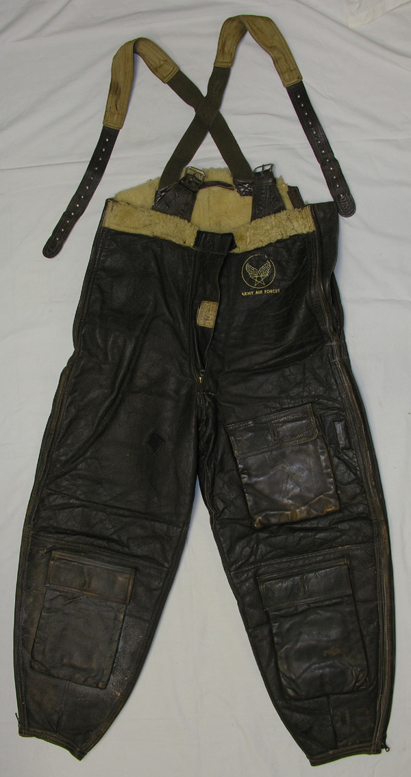 RARE AN-T-35 / AN-5554 Leather Shearling Flight Trousers