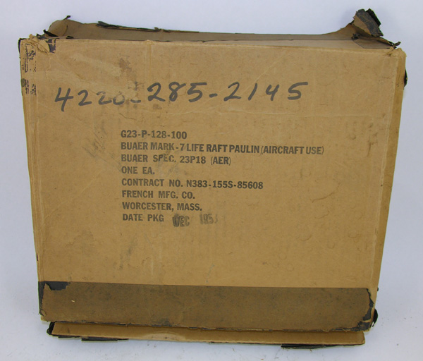 US Navy Mark 7 Life Raft Paulin Box